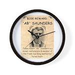 b Saunders Wante Wall Clock
