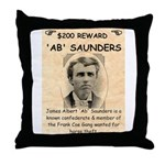 b Saunders Wante Throw Pillow