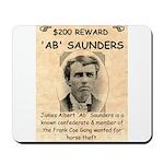 b Saunders Wante Mousepad