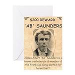 b Saunders Wante Greeting Card