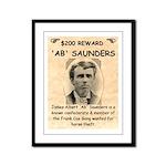 b Saunders Wante Framed Panel Print