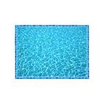 Backyard Pool 5'x7'Area Rug