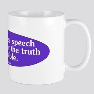 Without Free Speech Purple Ov Mug