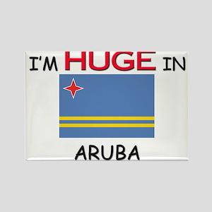 I'd HUGE In ARUBA Rectangle Magnet