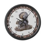 Squirrel Large Wall Clock