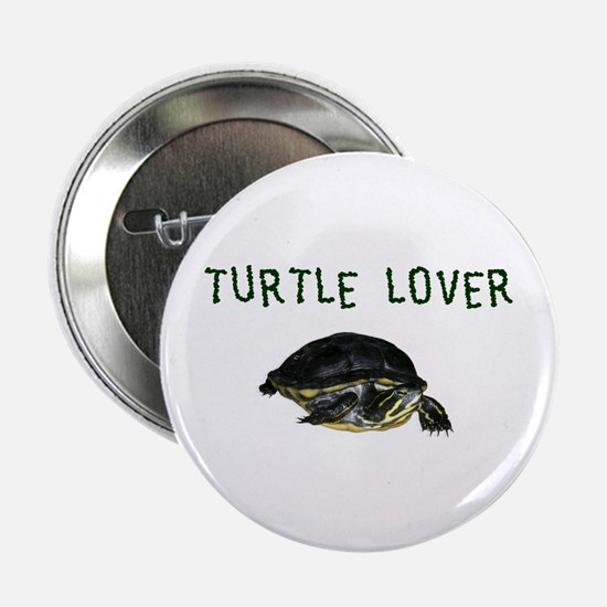 """Turtle Lover 2.25"""" Button"""