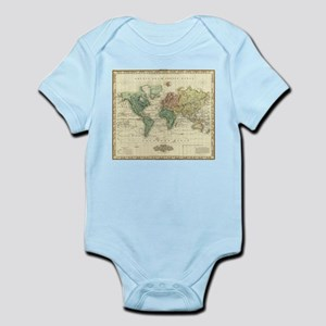 Vintage Map of The World (1823) Body Suit