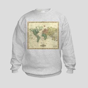 Vintage Map of The World (1823) Sweatshirt