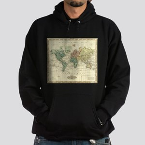 Vintage Map of The World (1823) Sweatshirt