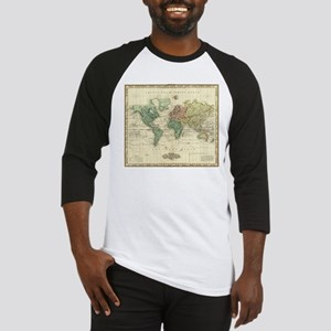 Vintage Map of The World (1823) Baseball Jersey