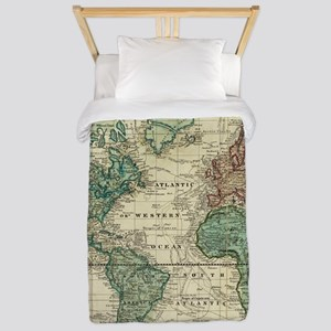 Vintage Map of The World (1823) Twin Duvet Cover