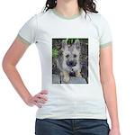 """Cairn Terrier """"Emma"""" Jr. Ringer T-Shirt"""