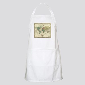 Vintage Map of The World (1823) Light Apron