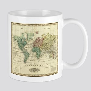 Vintage Map of The World (1823) Mugs