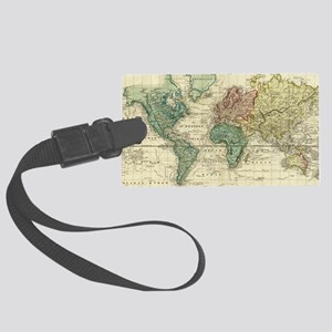 Vintage Map of The World (1823) Large Luggage Tag