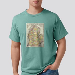 Vintage Map of Michigan (1897) T-Shirt