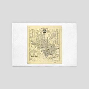 Vintage Map of Washington D.C. (1909) 4' x 6' Rug
