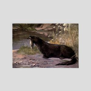 Vintage Otter Painting (1909) 4' x 6' Rug