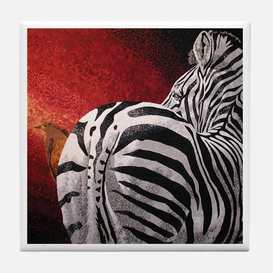 Stay Alert - Zebra Tile Coaster