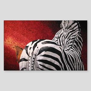 Stay Alert - Zebra Rectangle Sticker