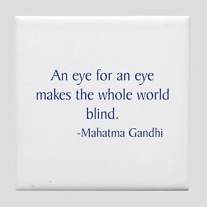 Gandhi 23 Tile Coaster