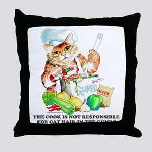 Cajun Chef Cat Throw Pillow