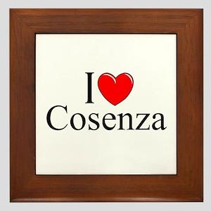 """""""I Love (Heart) Cosenza"""" Framed Tile"""