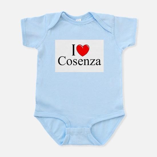 """I Love (Heart) Cosenza"" Infant Bodysuit"