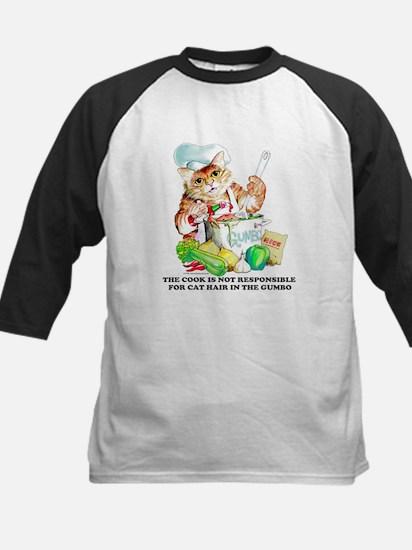 Cajun Chef Cat Kids Baseball Jersey