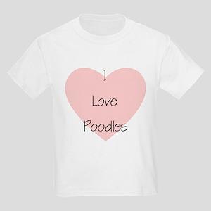 I Love Poodles Kids T-Shirt