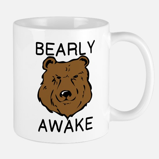 BEARLY AWAKE Mugs