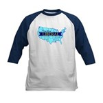 True Blue American Liberal Kids Baseball Jersey
