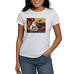 Santa's 2 Schnauzers Women's T-Shirt