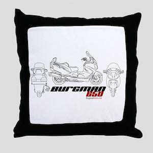 Burgman 650 Throw Pillow