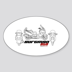 Burgman 650 Oval Sticker