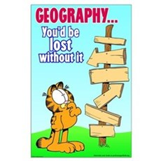 Geography Garfield Large Poster