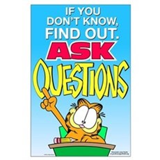 Ask Questions Garfield Large Poster