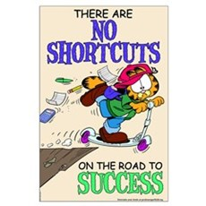 No Shortcuts to Success Large Poster