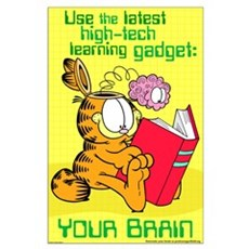 Use Your Brain Garfield Large Poster