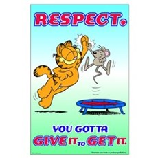 Respect Garfield Large Poster