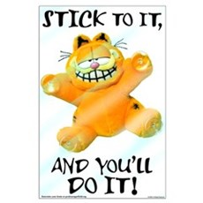 Stick to it Garfield Large Poster