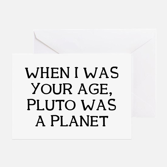 When Pluto Greeting Card