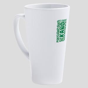Nigeria Flag with City Names Word 17 oz Latte Mug