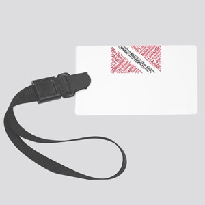 Trinidad and Tobago Flag with Ci Large Luggage Tag