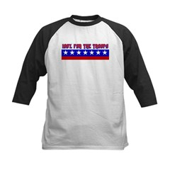100% Support The Troops Kids Baseball Jersey