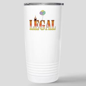 Finally Legal Birthday Stainless Steel Travel Mug