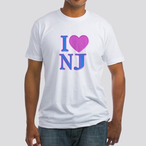 I Love NJ Fitted T-Shirt