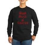 Accept Donations with this Long Sleeve Dark T-Shir