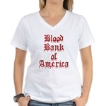 Accept Donations with this Women's V-Neck T-Shirt