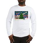 XmasMagic/Pomeranian (RW) Long Sleeve T-Shirt